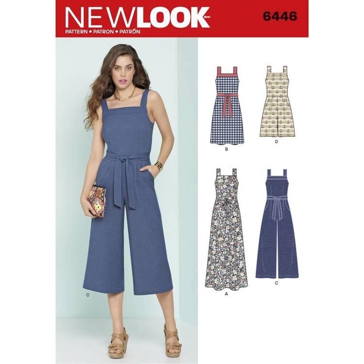New Look Pattern 6446 Misses' Jumpsuits & Dresses