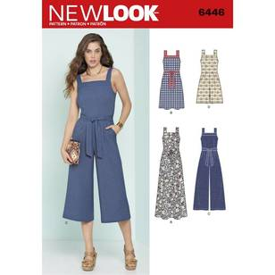 New Look Pattern 6446 Misses' Jumpsuits & Dresses
