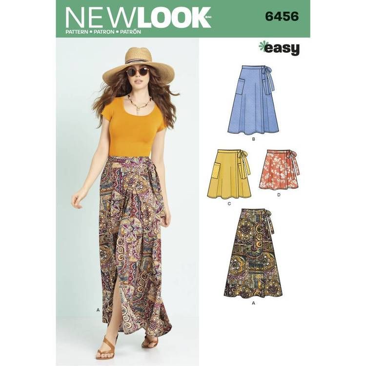 New Look Pattern 6456 Misses' Wrap Skirts