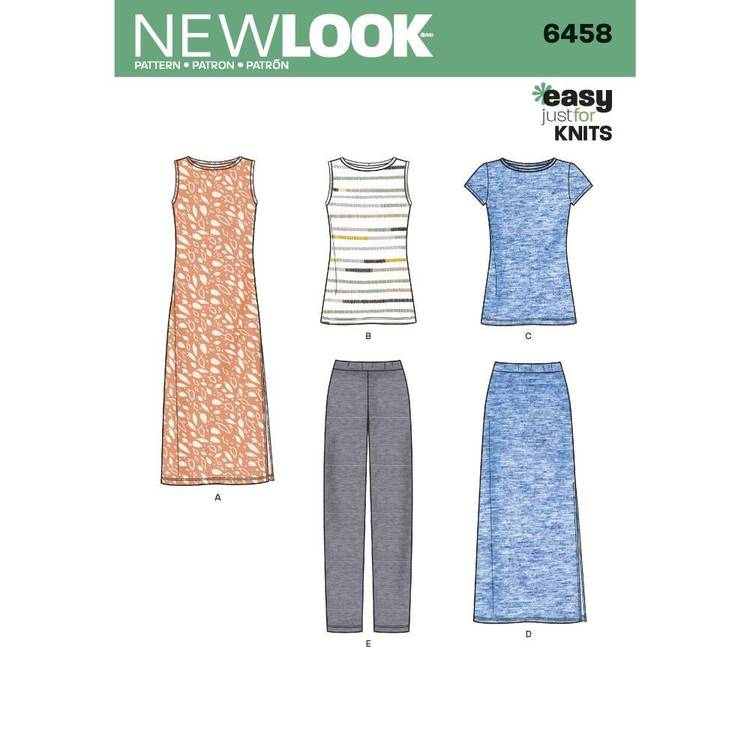 New Look Pattern 6458 Misses' Separates