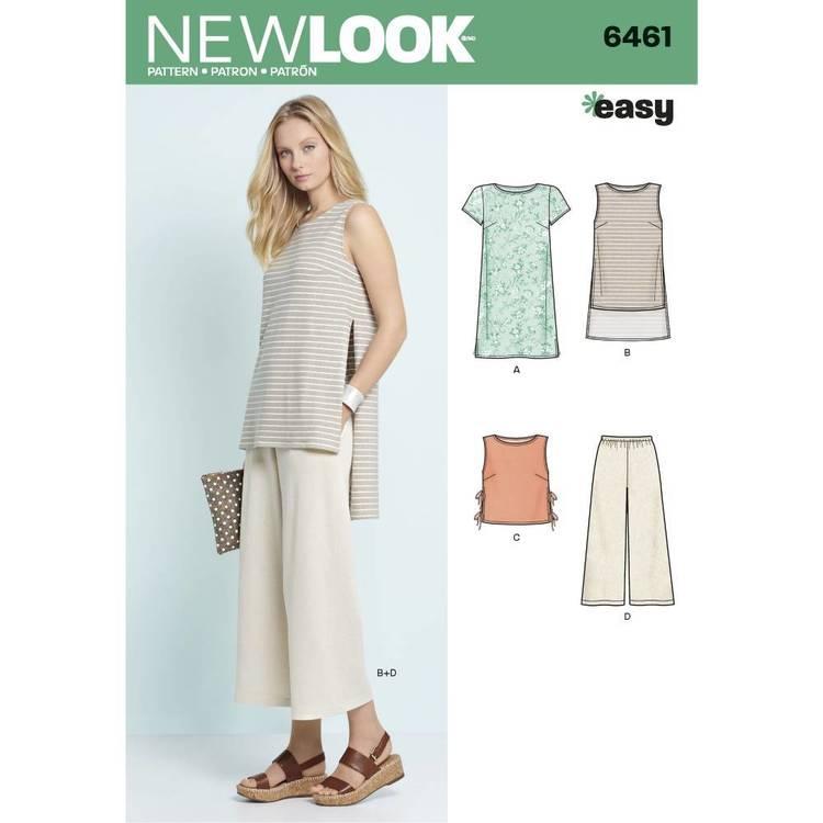 New Look Pattern 6461 Misses' Top & Pants