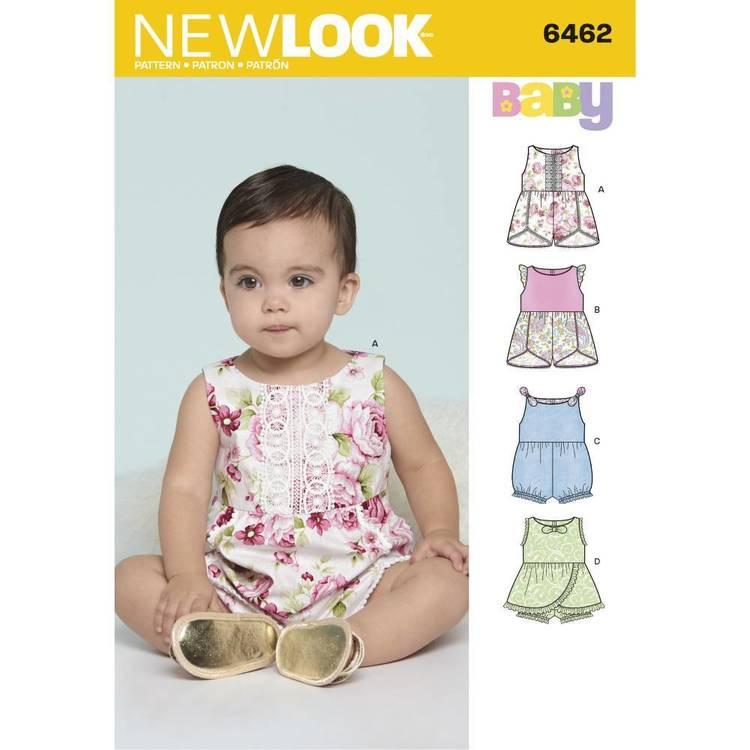 New Look Pattern 6462 Babies' Rompers