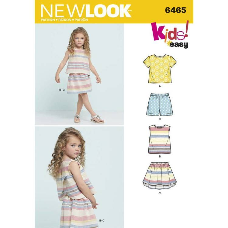 New Look Pattern 6465 Child's Top
