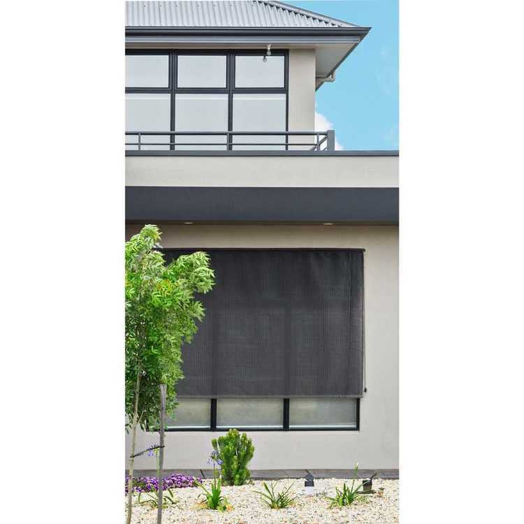 Caprice Charcoal Outdoor Rollup Blind