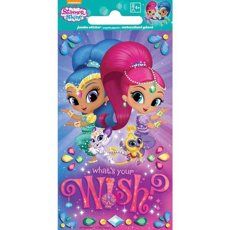 Nickelodeon Shimmer And Shine Jumbo Stickers Multicoloured