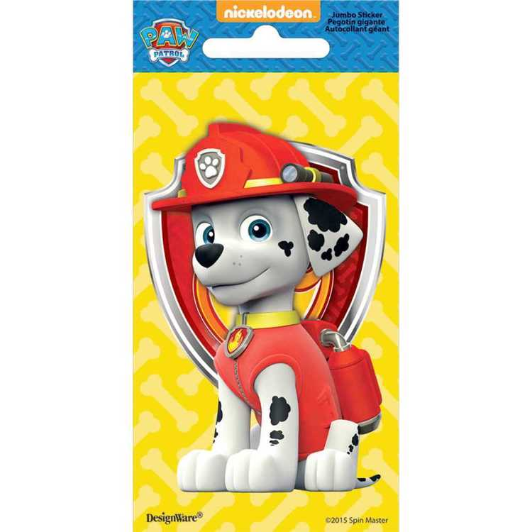 Paw Patrol Nickelodeon Marshal Jumbo Stickers