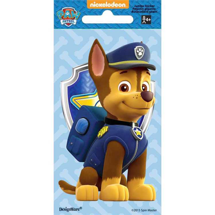 Paw Patrol Nickelodeon Chase Jumbo Stickers Multicoloured