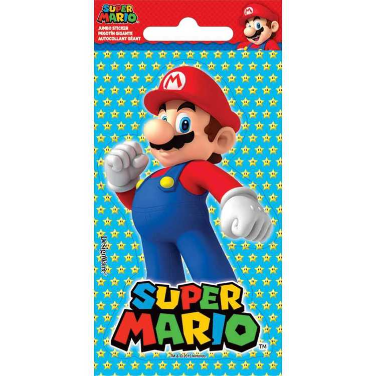 Nintendo Super Mario Bros Jumbo Stickers