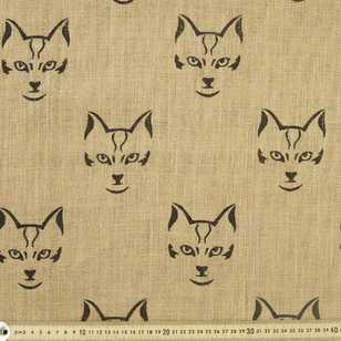 Cats Metallic Print Hessian