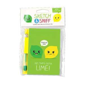 Scentco Sketch And Sniff Lemon & Lime Note Pad