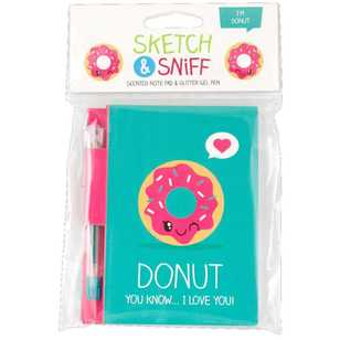 Scentco Sketch And Sniff Donut Note Pad