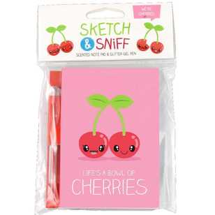 Scentco Sketch And Sniff Cherries Note Pad