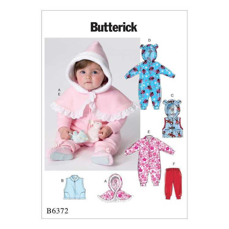 Butterick Pattern B6372 Infants' Cape