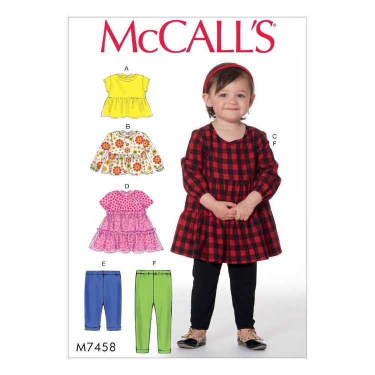 McCall's Pattern M7458 Toddlers Tops