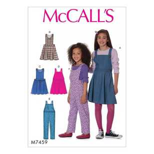 McCall's Pattern M7459 Children's/Girls' Jumpers and Overalls