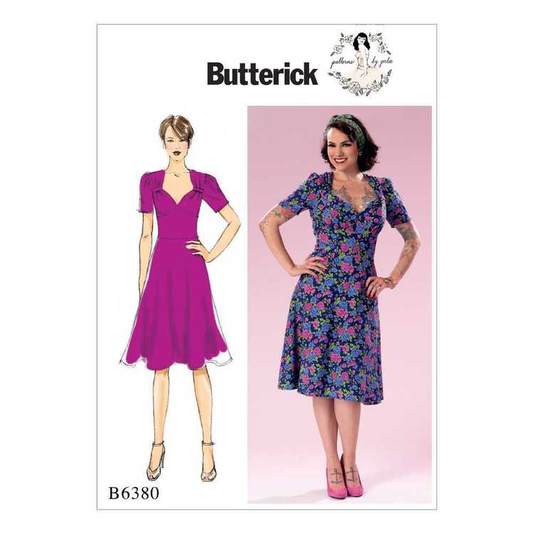 Butterick Pattern B6380 Misses' Sweeheart-Neckline Dress with Gathered Bodice