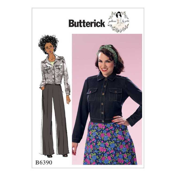 Butterick Pattern B6390 Misses' Button-Down Jacket with Bust Pockets