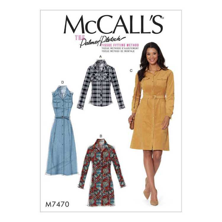McCall's Pattern M7470 Misses Shirt & Shirtdresses