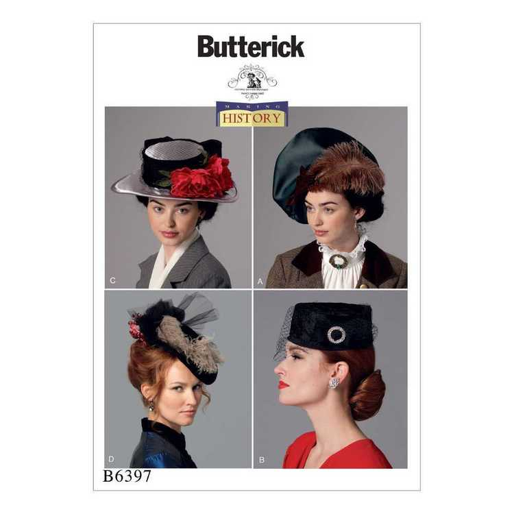 Butterick Pattern B6397 Misses' Hats in Four Styles