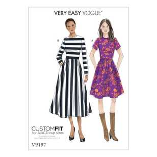 Vogue Pattern V9197 Misses Dresses