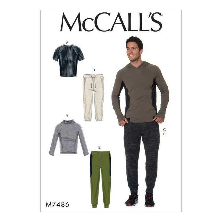 McCall's Pattern M7486 Mens Raglan Sleeve Tops & Pants