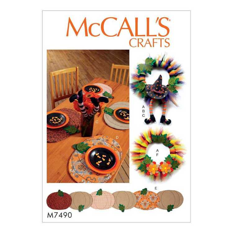 McCall's Pattern M7490 Placemats One Size