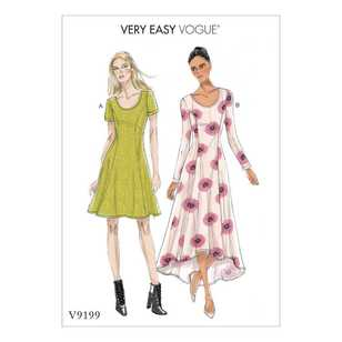 Vogue Pattern V9199 Misses Gathered Dresses