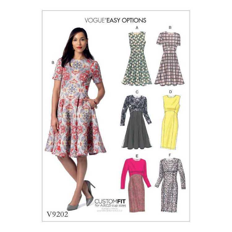 Vogue Pattern V9202 Misses Dresses
