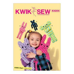 Kwik Sew Pattern K4204 Animal-Themed Plush Toys