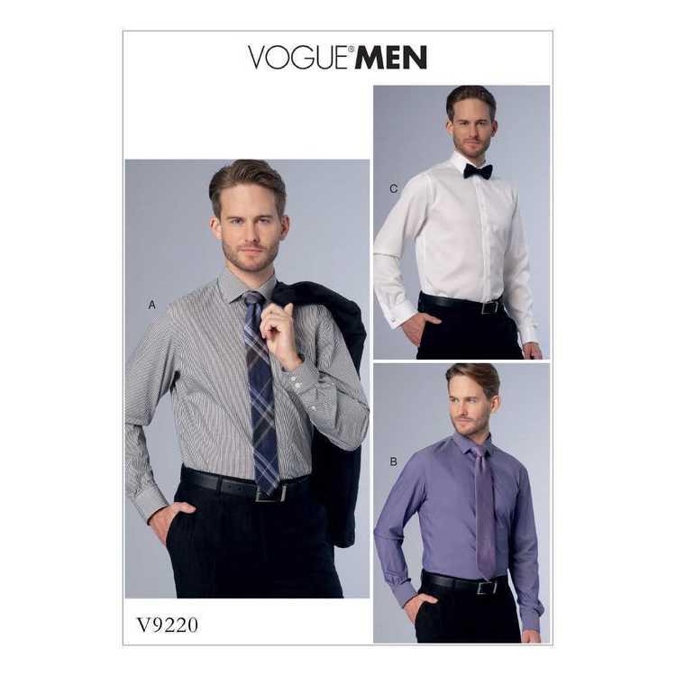 Vogue Pattern V9220 Mens Button-Down Shirts