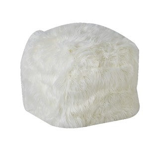 Living Space Tosca Faux Sheepskin Ottoman Cover