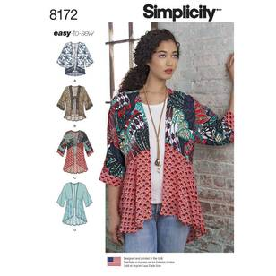Simplicity Pattern 8172 Misses' Fashion Kimonos
