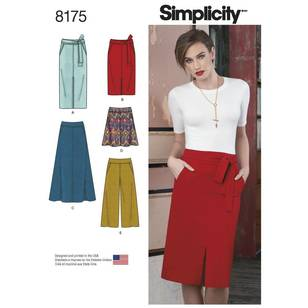 Simplicity Pattern 8175 Misses' Skirts