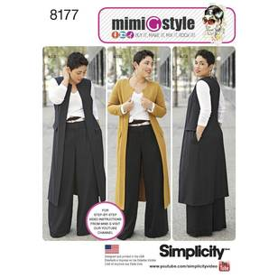 Simplicity Pattern 8177 Misses'/Plus Pants & Top
