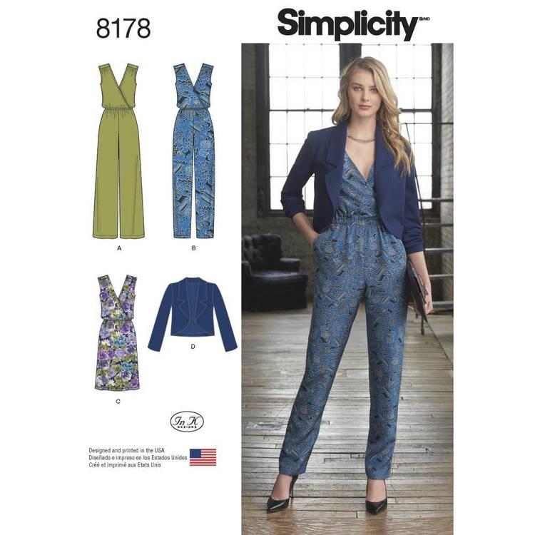 Simplicity Pattern 8178 Misses' Jumpsuit