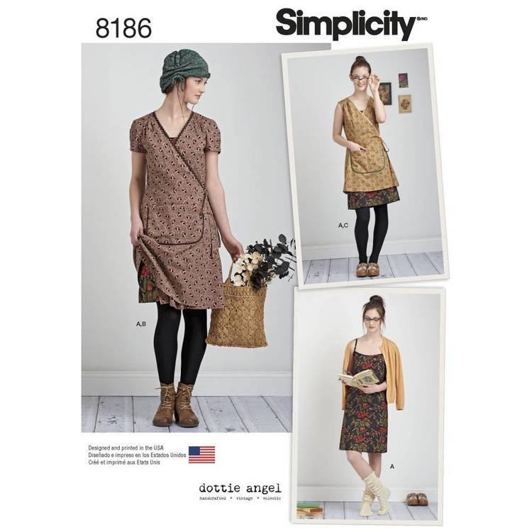 Simplicity Pattern 8186 Misses' Wrap & Slip Dress