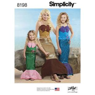 Simplicity Pattern 8198 Child's/Girls'/Misses' Costume