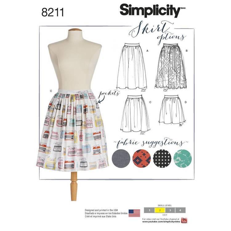 Simplicity Pattern 8211 Misses' Dirndl Skirts