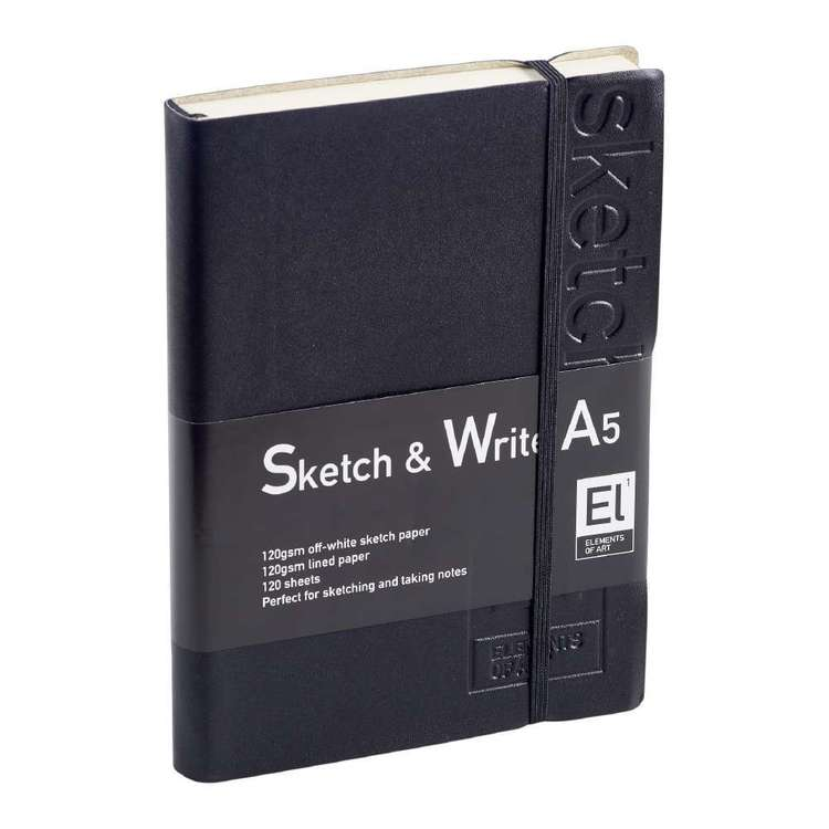 Elements Of Art Sketch & Write Book White