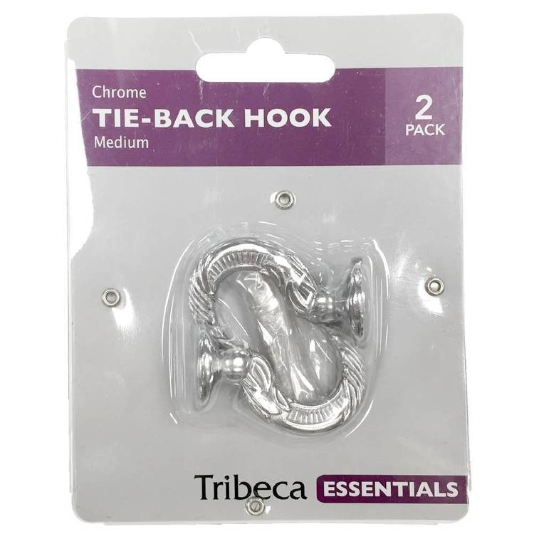 Tribeca Tieback Hook Chrome