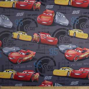 Disney Pixar Cars 3 Printed Triple Weave Fabric