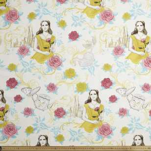 Disney Beauty & The Beast Duck Weave Fabric
