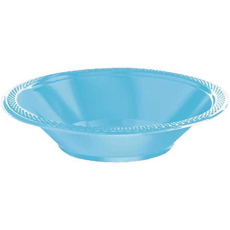 Amscan Caribbean Blue Plastic Bowl