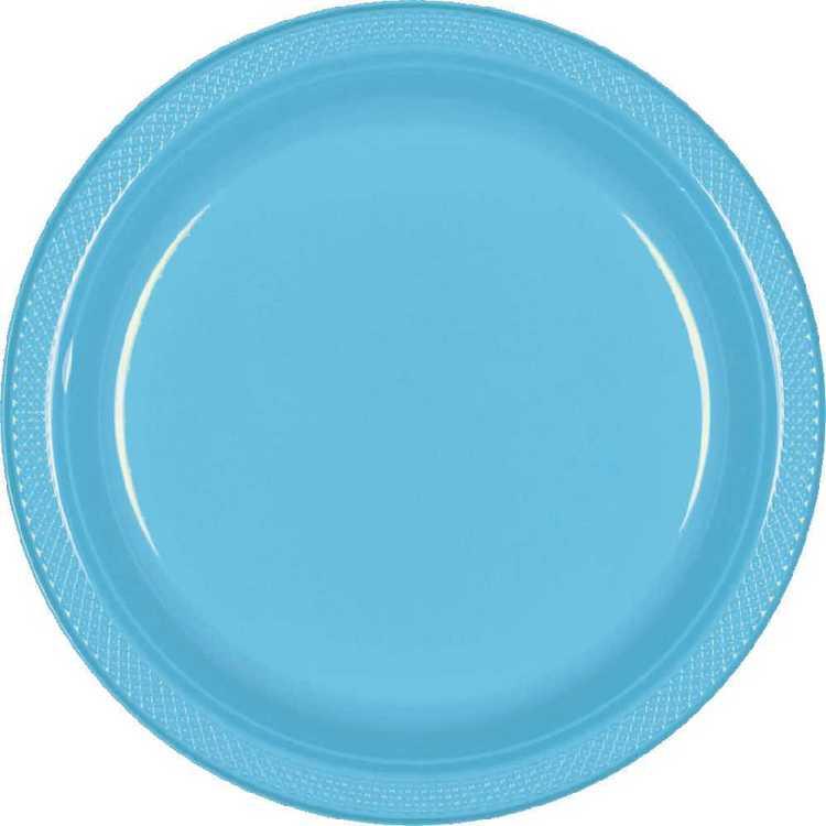 Amscan Caribbean Blue Plastic Plate
