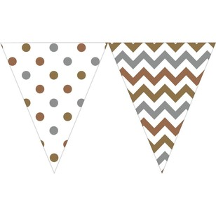 Amscan Large Paper Pennant Banner - Everyday Bargain