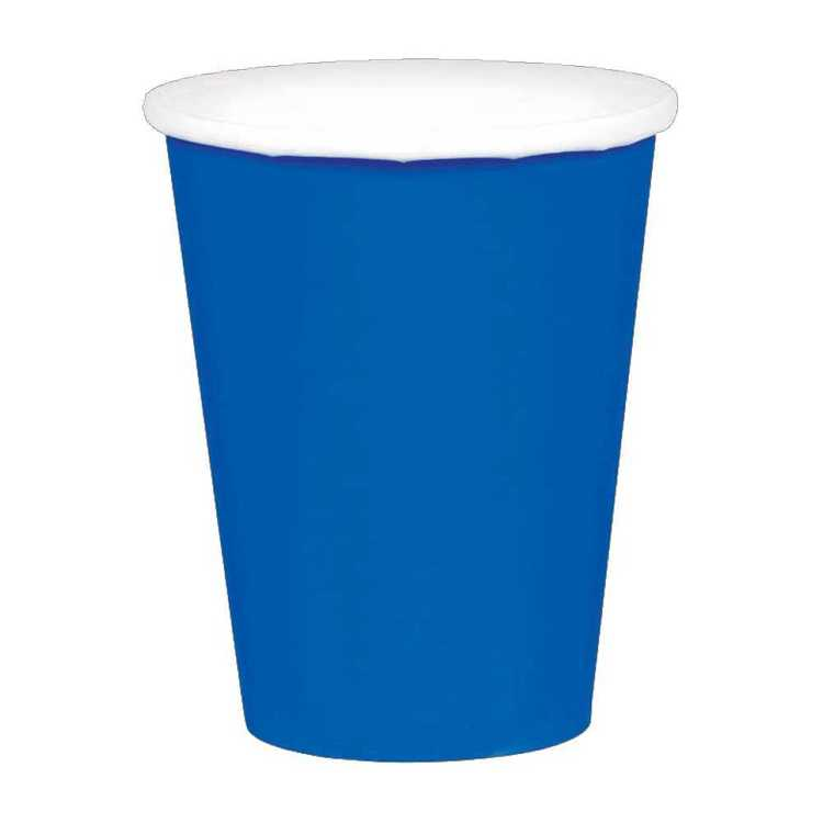 Amscan Bright Royal Blue Paper Cups 20 Pack