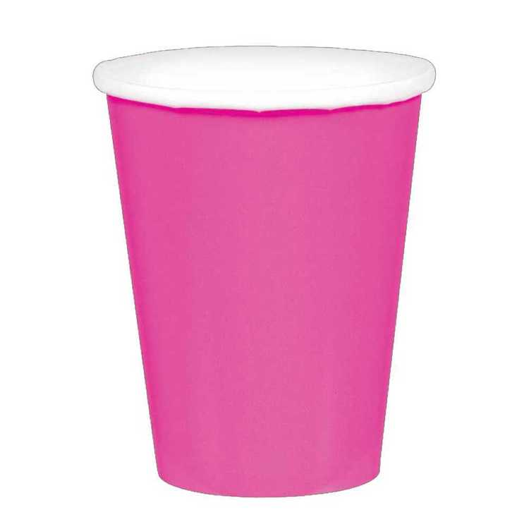 Amscan Bright Pink Paper Cups 20 Pack