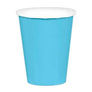 Amscan Caribbean Blue Paper Cups 20 Pack
