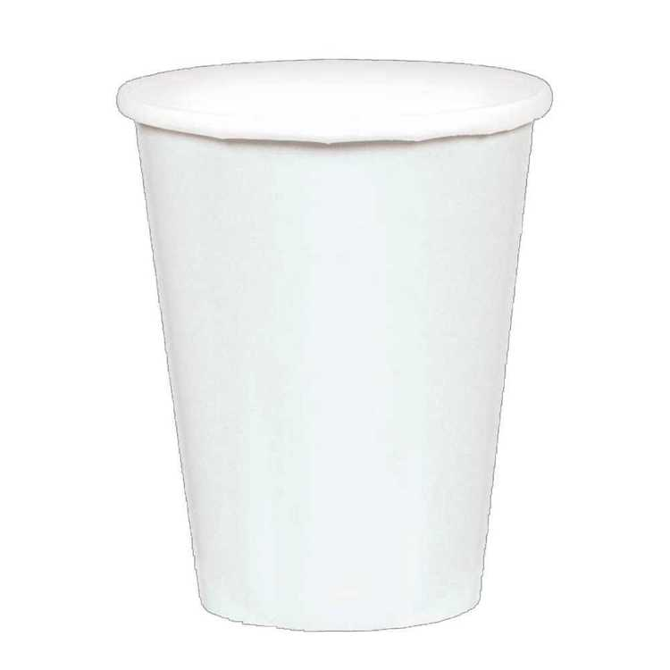 Amscan White Paper Cups 20 Pack