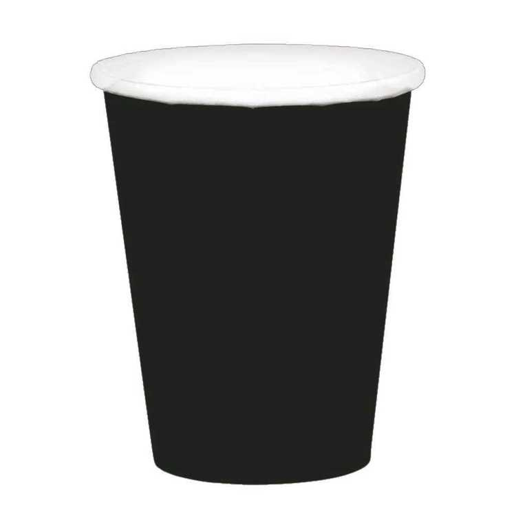 Amscan Black Paper Cups 20 Pack